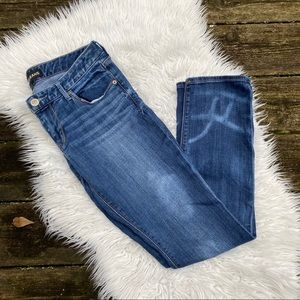 Express ankle skinny stella low rise jeans 8